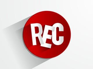 Rec Button vector illustration