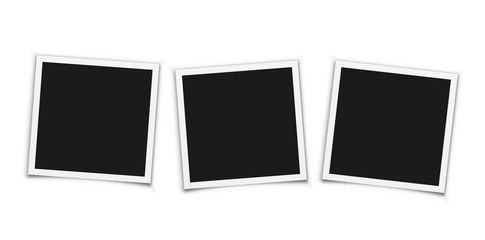 Vintage photo frames on white background. Vector.