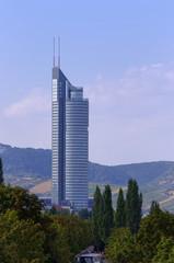 Vienna city scene, view of Millenium Tower