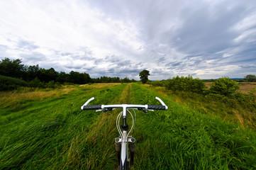 Biking outdoor in sunny day