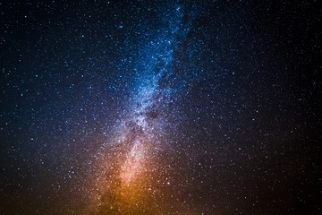 Milky way with million stars at night