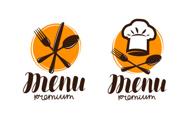 Restaurant menu, logo or label. Cooking, cuisine concept. Vector illustration