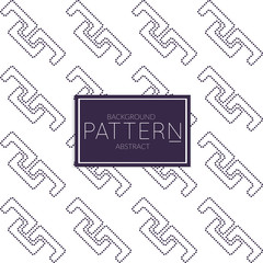 Dark blue on white Abstract geometric vector pattern