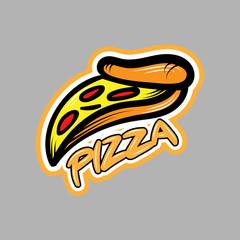 Pizza logo in graffiti style