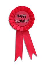 Happy Birthday Hot Pink Ribbon