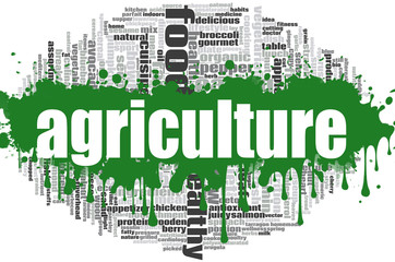 Agriculture word cloud