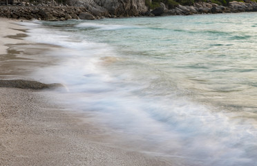 slow shutter speed photography of sea scape in koh tao southern of thailand