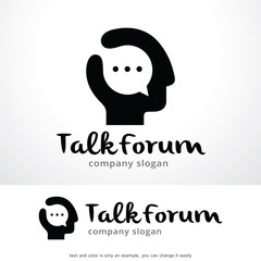 Talk Forum Logo Template Design Vector, Emblem, Design Concept, Creative Symbol, Icon