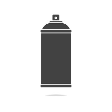 Spray can icon vector isolated