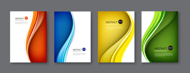 Autocollant pour porte Abstract wave Line abstract set background. Vector illustration.