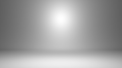 White empty photo studio of rectangular shape