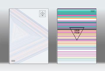 Minimal placard. Vector geometric cover.