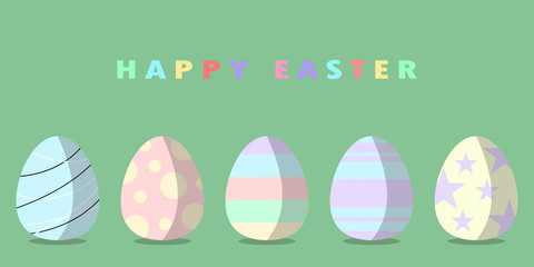 Abstract background Happy Easter with eggs, Vector illustration.