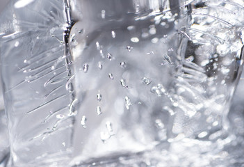 Close up of Air Bubbles in Ice