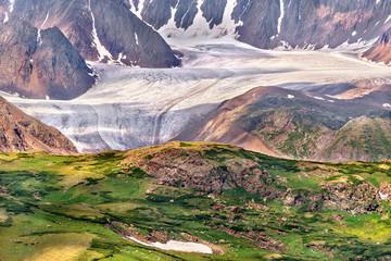 glacier mountains snow ice summer