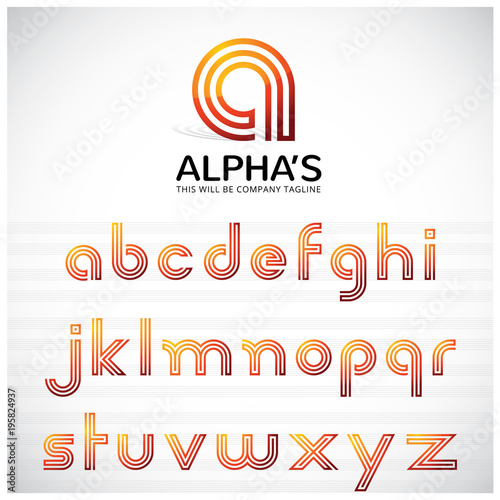 3 Lines A To Z Letters It Can Be Use As Logo Symbol You