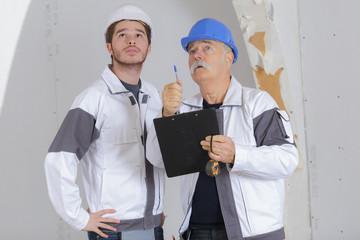 contractor having a conversation