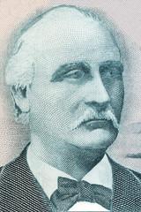Tryggvi Gunnarsson portrait from Icelandic money