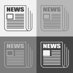 Vector news set icon. Newspaper news.