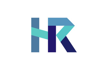 HR Ribbon Letter Logo