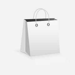 paper bag on white background.