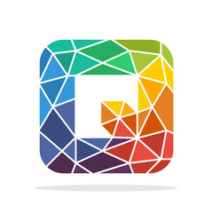 logo icon initial letter Q with the concept of colorful mosaic style
