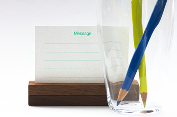 色鉛筆とメッセージ