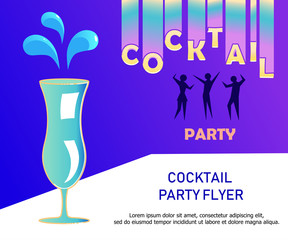 Flyer for night cocktail party