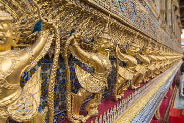 Detail outside entrance to temple in Bangkok