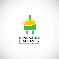 An attractive Renewable Energy vector logo symbol