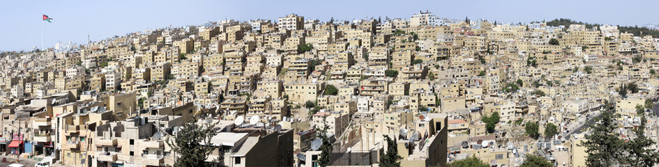 City panorama of Amman - the capital of the Kingdom of Jordan (large stitched file)
