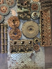 metal wheel and car parts