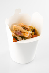 Chicken dough in a box to takeaway to go Chinese