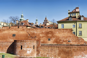 Wall Of The Old Town Of Warsaw