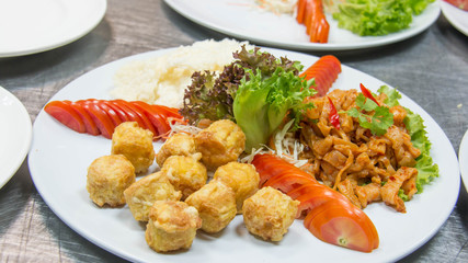 image of Thai food fried shrimp.