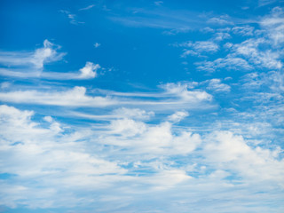 Background of fluffy cloud on blue sky