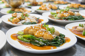 image of Thai food fried shrimp.