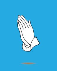 Vector Praying Hands