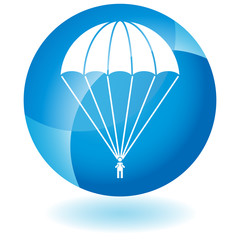 Parachute Paratrooper Button