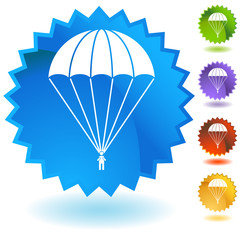 Parachute Paratrooper Button