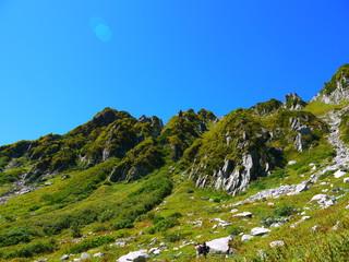 千畳敷カール。中央アルプス。駒ケ根 長野 日本。9月中旬。