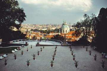 tourist places, historic streets in Prague