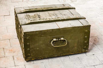 dusty old wooden box