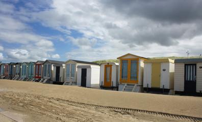 Strandhäuser an der Nordsee Niederlande