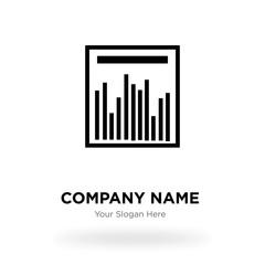 Statistics graph company logo design template, Business corporate vector icon
