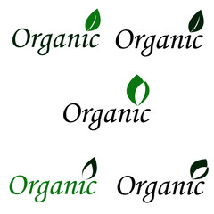 Organic logo design. Vector
