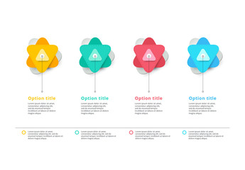 Colorful Infographic with Triangular Star Elements