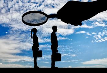 Concept of gender inequality in women in careers