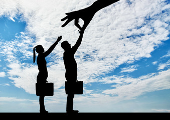 Concept of gender inequality in career discrimination