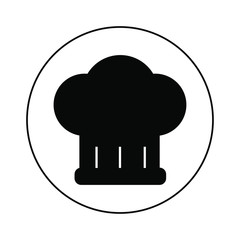 Chef cap icon, logo